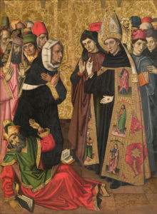Saint Augustine Disputing with the Heretics by Vergós Group, c. 1480 [National Art Museum of Catalonia, Barcelona]