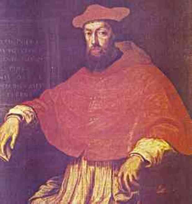 El Cardenal Pole, primo de Enrique VIII