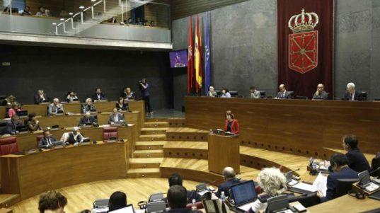 Imagen reciente de un pleno del Parlamento de Navarra