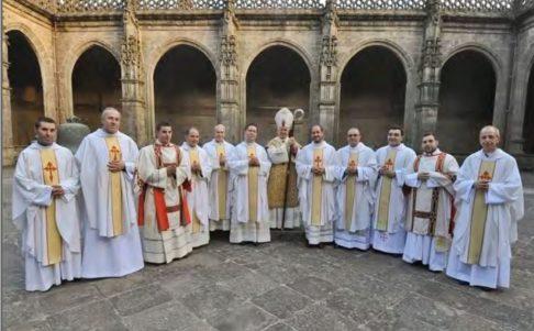Imagen de una ordenación presbiteral en Santiago de Compostela