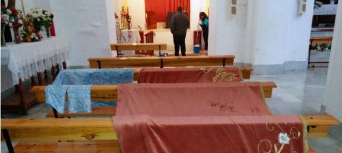 Atacan con un cóctel molotov la Virgen de los Desamparados de Málaga