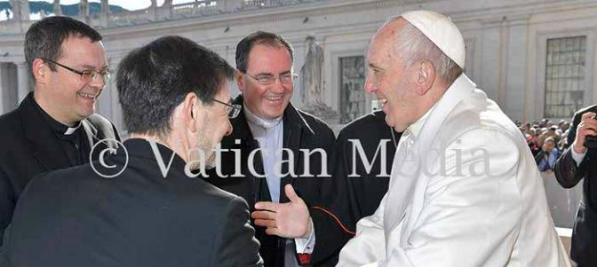 Osoro lleva a sus tres auxiliares ante el Papa